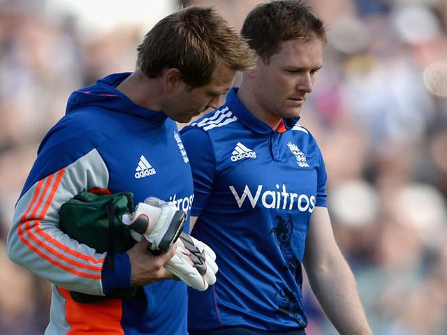 Morgan out of ODI after head injury