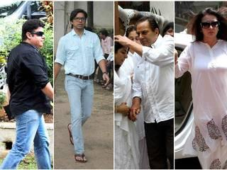 SRK, Rohit Shetty, Dharmendra & others at Karim Morani's mother's funeral