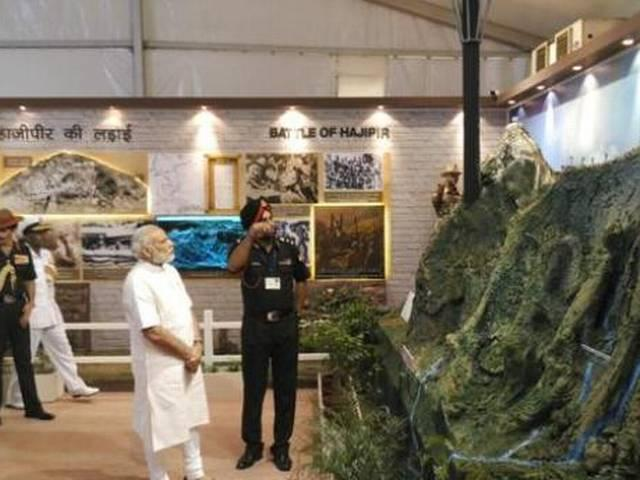 Modi Visits Exhibition to Mark 1965 India-Pakistan War