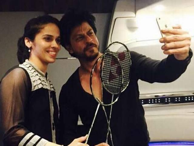 saina nehwal met shahrukh khan on the sets of Dilwale