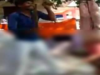 madhya pradesh: uncle hangs kid up side down for being mischivious in school