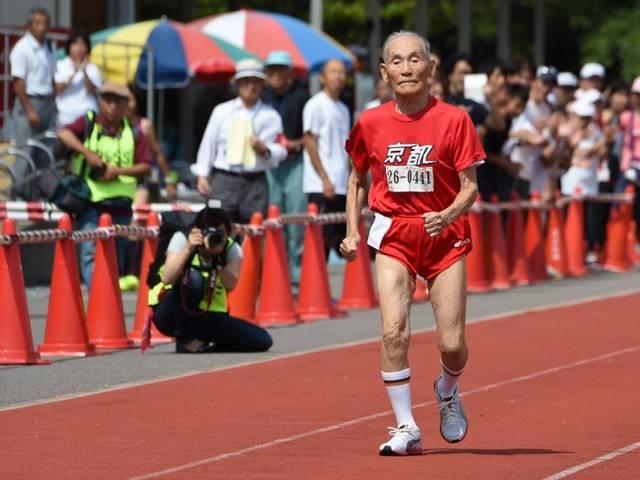 Japan's 105-year-old sprinter Hidekichi Miyazaki clocks new record