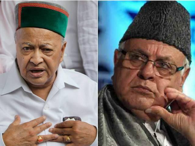 Farooq Abdullah and Virbhadra Singh asked to vacate government bungalows