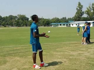 South African Cricket Team held a training session at the Air Force ground on Monday
