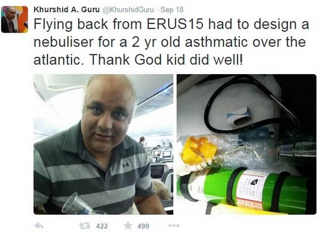 doctor saves child's life on plane