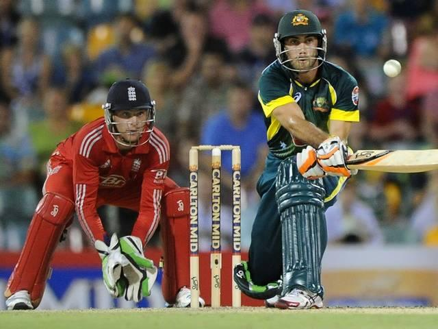 Glenn Maxwell practicing audacious shot
