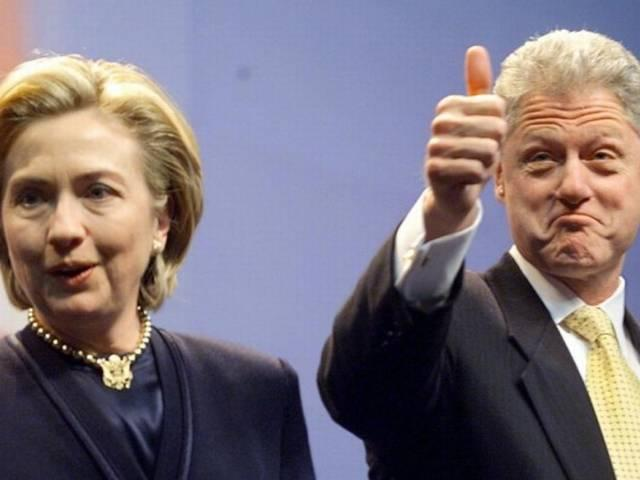 Hillary has a long history of beating up her husband, Bill Clinton, behind closed doors
