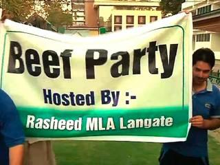 beef party hosted in j&K