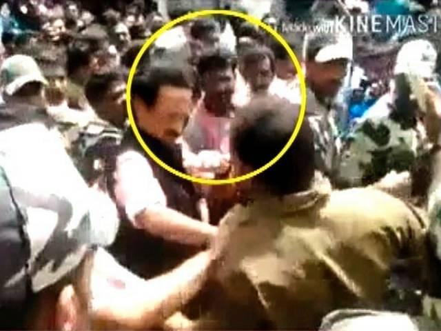 MK Stalin Slaps a Man Who Wanted to Click a Selfie
