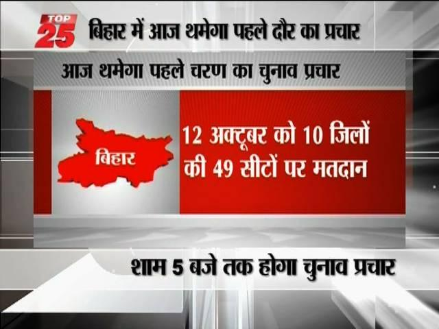 last date of campaigning in bihar for first phase of polling