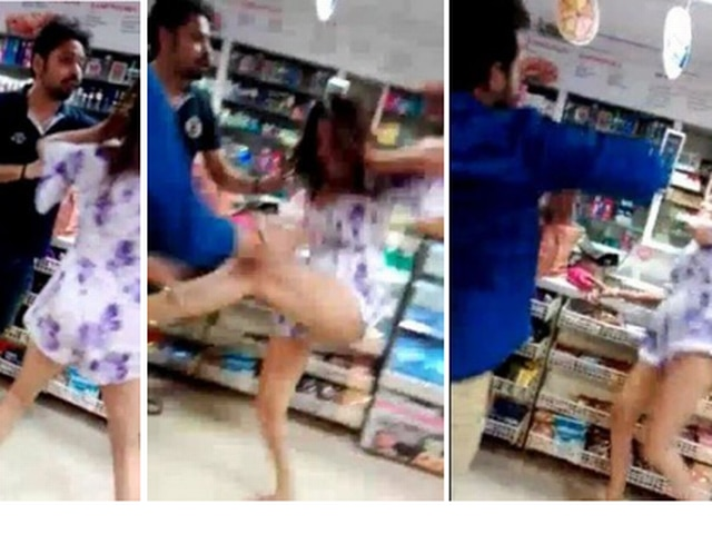SHOCKING VIDEO: POOJA MISRRA GOT INTO A SCUFFLE, SEEN EXCHANGING PUNCHES & KICKS AT A DELHI STORE