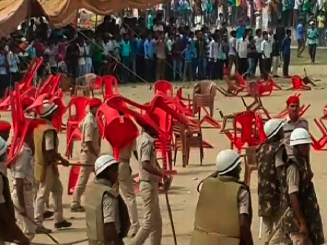 Ruckus at BJP's rally in Bihar Sharif