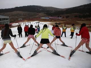 No Pants for Skiing in Xuzhou