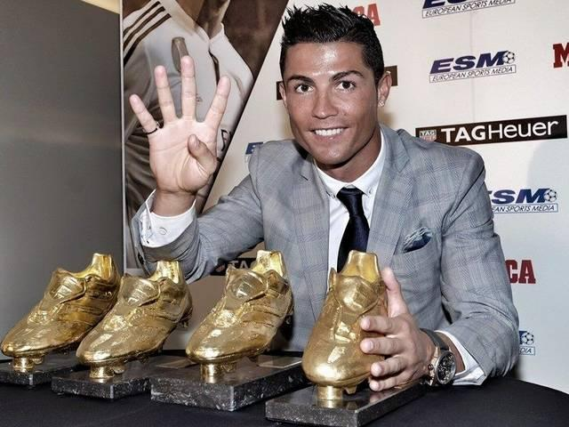 Real Madrid's Cristiano Ronaldo wins record fourth Golden Boot