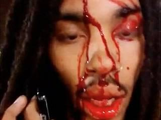 rapper films selfie video after being shot in the head by a hail of stray bullets