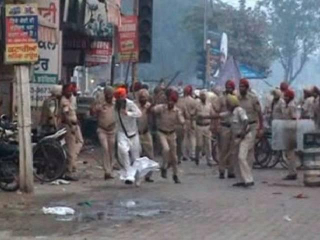 Faridkot clashed with police in Punjab