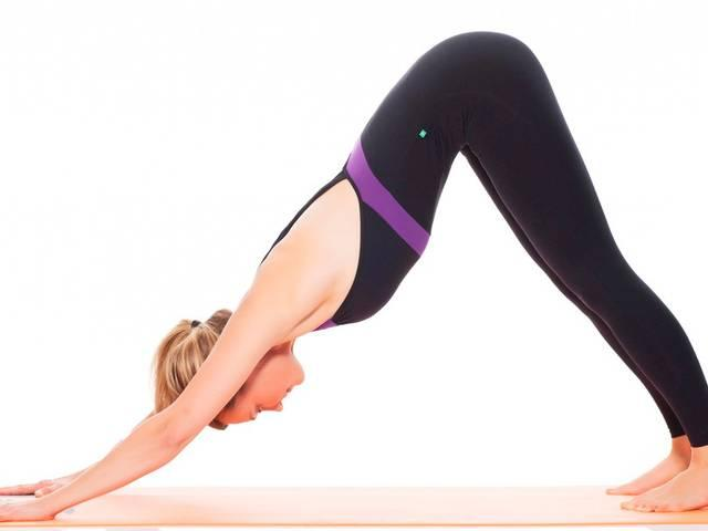 Yoga poses when you're too tired to work out