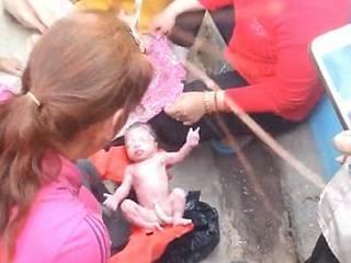 baby left to die in bin survives