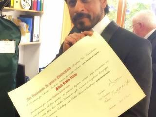 SHAH RUKH KHAN_honored_Doctorate_Edinburgh