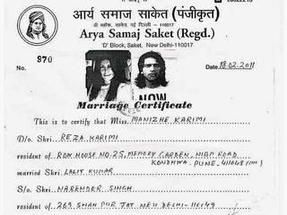 mandana karimi is married!