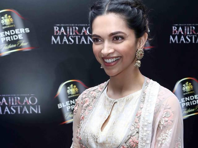 Bollywood actor Deepika Padukone walks the ramp during the 11th edition of Blenders Pride Fashion Tour 2015
