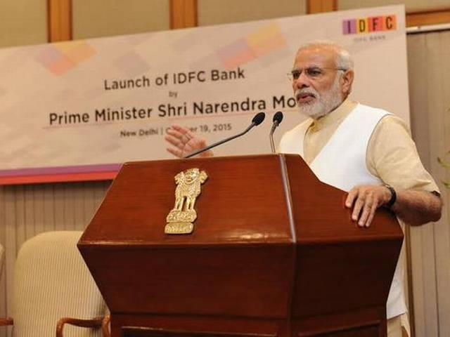 PM modi Launch IDFC Bank