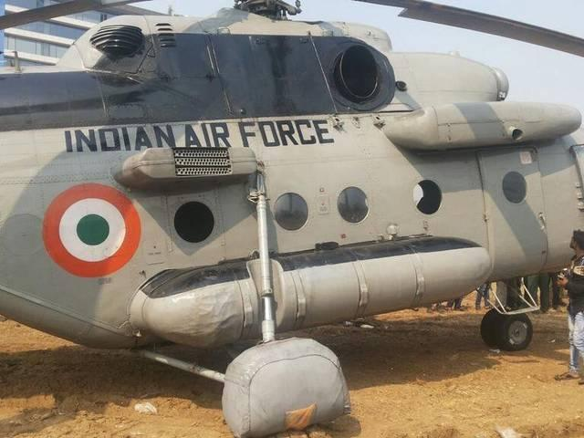 Emergency landing of Mi17 helicopter at Bandra-Kurla complex