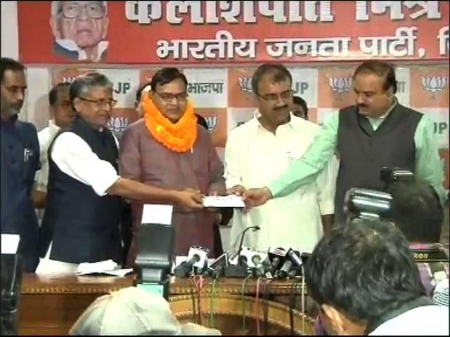 Former JDU Minister Bhim Singh Joins BJP