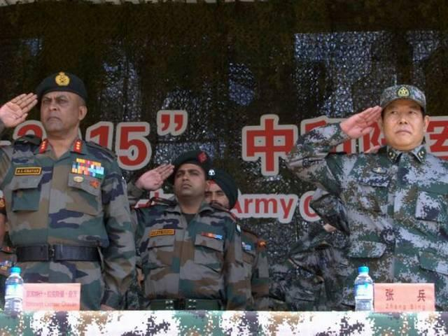 Indo-China joint military exercisefor counter terrorism