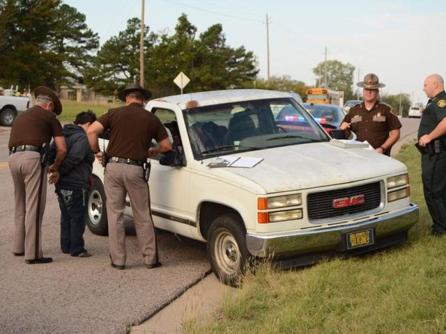 3-year-old boy crashes pickup truck after drunken mom falls out of car on Oklahoma highway