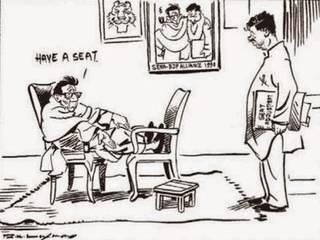 RK Laxman's cartoon which forced people to think on various issues