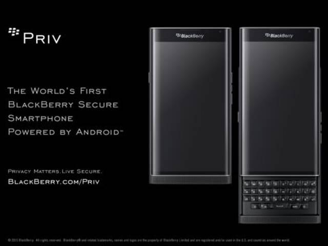BlackBerry's Android smartphone Priv now available for pre-order