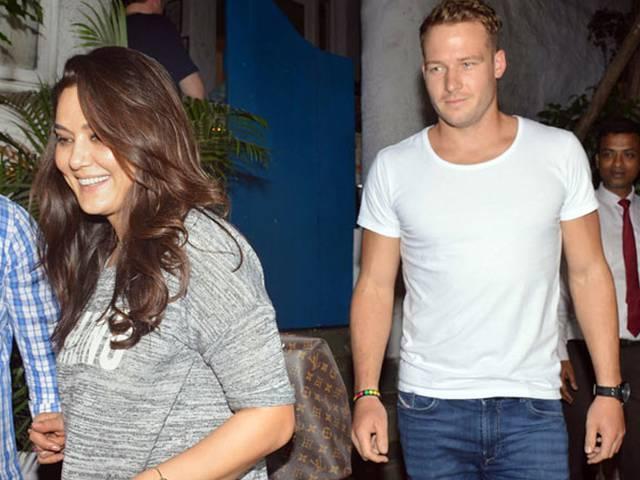 Actress Preity Zinta's dinner date with cricketer David Miller