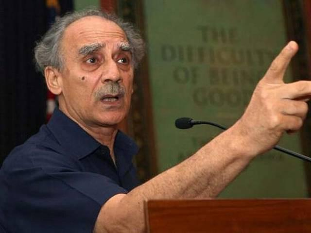 BJP hits back on arun shourie