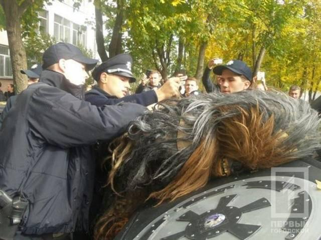 Chewbacca arrested at Ukraine polls