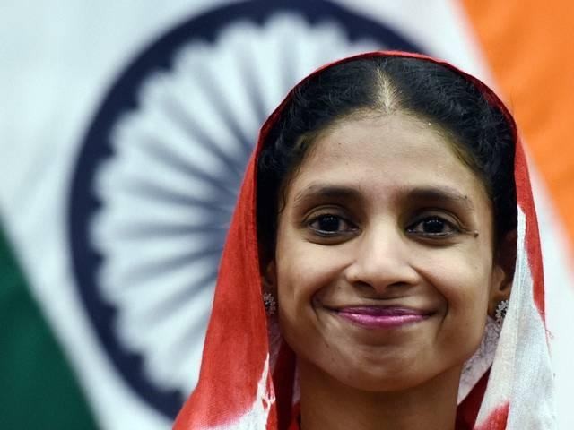Geeta given rousing welcome in Indore