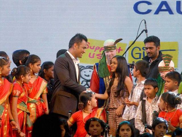 Dhoni spends time with special children in Pune