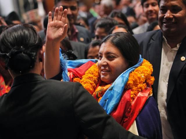 Nepal's parliament elected Bidhya Devi Bhandari as the country's first female president