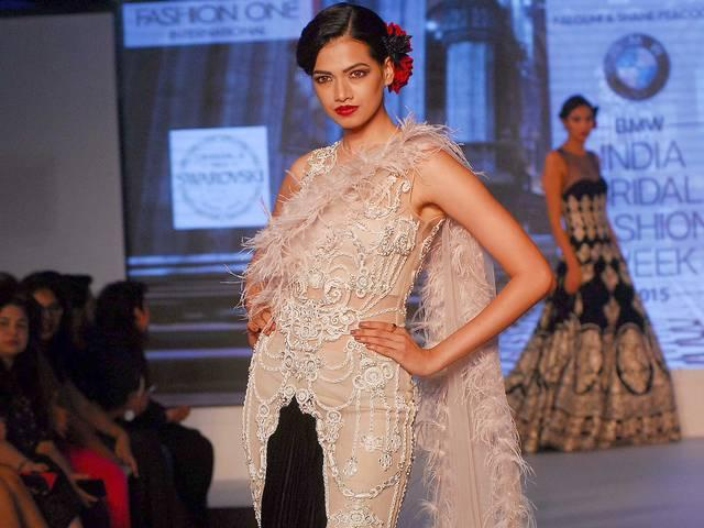 Models Walk The Ramp For Bridal Fashion Week 2015
