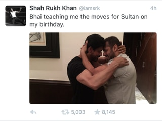 Photo of the day: Salman Khan hugs and wishes Shah Rukh Khan on his birthday