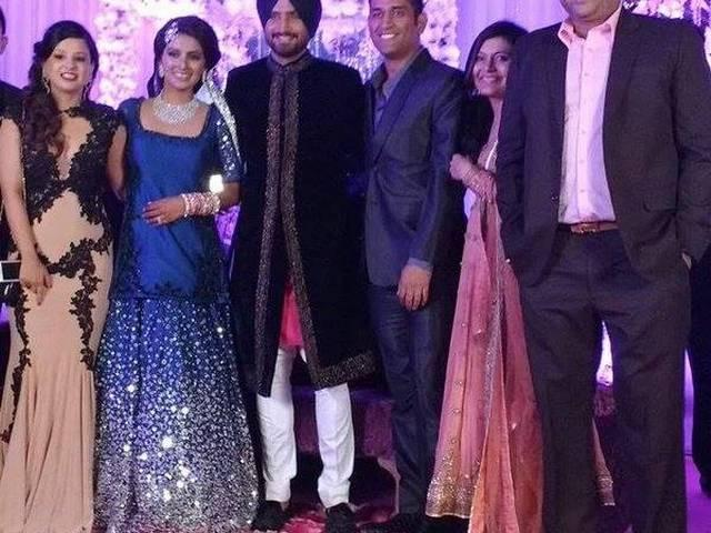 Indian cricketers dance performance at Bhajji's reception