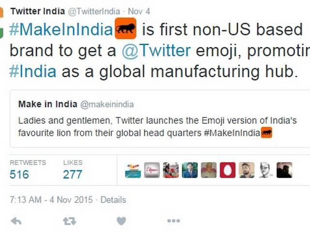 Twitter launches 'Make in India' emoji