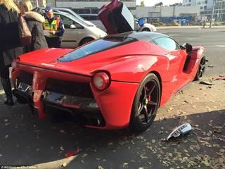 £1 million Ferrari crashes just moments after leaving the dealership in Hungary
