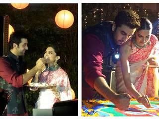 Ranbir Kapoor & Deepika Padukone Make Rangoli, Play Cards & Look Spectacular Celebrating Diwali!