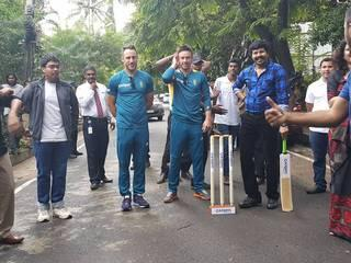 The Proteas were treated to a special Diwali celebration in Bengaluru this afternoon