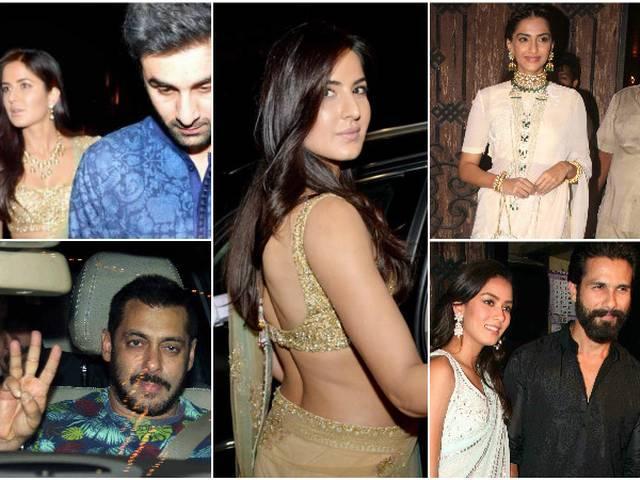 Salman Khan, Katrina Kaif and Ranbir Kapoor, Shahid-Mira party together, see pics