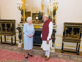 PM_Narendra Mod_Queen Elizabeth_Britain_India