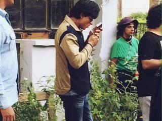 Snapped : Shah Rukh Khan Shooting In Delhi For 'Fan'