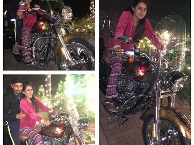 Geeta Basra turns biker