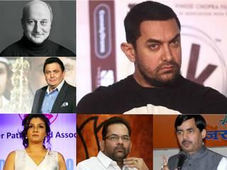 Filmy and political celebrities who oppose aamir khan statement